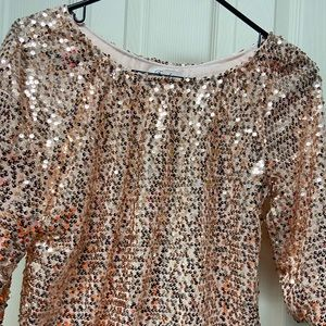Sequin pink blouse